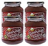 Haselnuss Milch Kakao Creme im 4er Pack   Brotaufstrich   Nusscreme   25% Haselnuss   Gluten Frei   Ohne Transfette & Palmöl & Farbstoffe & Gentechnik   Ohne Konservierungsstoffe   4x 330g…