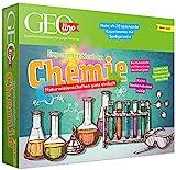 FRANZIS 67128 - GEOlino Experimentierbox Chemie, Experimentierkasten inkl. Laborausrüstung, Set mit 4 Chemikalien, Handbuch und weiterem Zubehör, ab 10 Jahren, keine Vorkenntnisse nötig