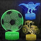 3D Illusion Lampe, mixigoo 3D LED Nachtlicht mit 16 Farbwechsel Berührungsschalter Schreibtischlampe Optische Täuschung Lampe Tischlampe Deko Licht für Kinder Weihnachten Geschenk