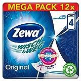 Zewa Wisch und Weg Original Küchenrolle, Mega Pack, 12 Packungen (48 Rollen x 45 Blatt)