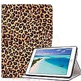 Billionn Hülle für iPad Mini 1, Kinder Niedlich Sottile Folio Ständer, Prämie Leder Smart Cover Auto Schlafen/Wecken für Apple iPad Mini 4/ iPad Mini 3/ iPad Mini 2/ iPad Mini 1, Gelber Leoparddruck
