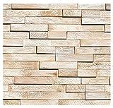 HO-M-012-1 Muster Teakholz Wandverkleidung Holz Wandverblender Wanddeko Wand-Design Wall Wood Panel - Fliesen Lager Verkauf Stein-Mosaik Herne NRW