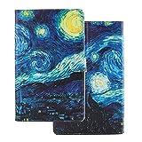 Tablette Hülle für iPad Mini 5, iPad Mini 4 Tasche, Leder Flip Case Etui Schutzhülle Smart Cover für Apple iPad Mini 1 2 3 4 5 Ölgemälde Sternenhimmel