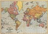 Cavallini Weltkarte auf Einwickelpapier