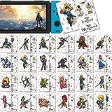 Casinteres 24 Stück NFC Etikett Spielkarten für The Legend of Zelda Breath of The Wild für Switch/Switch Lite/Wii U