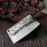 KANCK Küchenmesser Küchenmesser Cleaver Messer geschmiedet Edelstahl Full Tang Chef Butcher Chopper Fleisch Santoku Messer (Color : 7)
