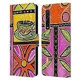 Head Case Designs Offiziell Zugelassen Wyanne Kaffee Und Blumen Natur Leder Brieftaschen Handyhülle Hülle Huelle kompatibel mit Oppo Find X2 Pro 5G