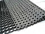 Gummimatte Ringgummimatte Schmutzfangmatte Ringmatte 22mm 5 Größen von rg-vertrieb (50x100)