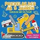 Prickelbilder Ab 3 Jahren: Fahrzeuge und Weltraum - Malen, Prickeln, Ausschneiden und Basteln! - Prickelblock für Jungen und Mädchen - Bastelbuch für Kinder ab 3