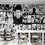 MENGRU Wallpaper Tapete 3D Fototapete Naruto Cartoon Junge Schlafzimmer Tapeten 3D Effekt Vliestapete Wohnzimmer Schlafzimmer Wandbilder Wanddeko 300cmX210cm