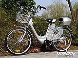 Viron Elektrofahrrad 250W / 36V E-Bike 26' Zoll Pedelec Fahrrad mit Motor Citybike (grau)