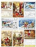 50 Weihnachtskarten Nostalgie Grußkarten Weihnachten Klappkarten mit Umschlägen 220-3206