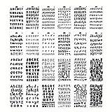 bulrusely Buchstaben-Vorlagen, weiche Alphabet-Schablonen, DIY-Handkonto-Schablone, Zeichnen, Bastelzubehör, Kunststoff-Tagebuch-Schablonen für Kinder, für Tagebuch, Scrapbook zum Basteln, Notizbuch
