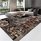 Kunsen Klassische Moderne einfache schmutzige schmutzige Geräusche Anti-Rutsch-Raum-Teppich-Schlafzimmer-Teppich-Guthaben wohnzimmerteppich schlafzimmerteppich 4ft 11''X7ft 3'' orientteppic150X220CM