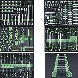 TrutzHolm® Profi Werkstattwagen Schaum Einlagen Werkzeugeinlagen 520x400mm bestückt 6 Stück