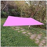 DAIHAN Sonnensegel Sonnenschutz Rechteckiges Polyester Windschutz Wetterschutz Wasserabweisend UV Schutz, für Outdoor Garten Mit Seilen,Rosa,210 * 300