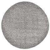 Hochflor Teppich, Weichboden Teppich Bodenteppich Wohnzimmermatte Hochflor Teppich 67 cm Grau