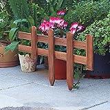 WXQIANG Holzplatte Picket, Packung 4 x Flowerbeds Dekorative Zäune, Innen Außenpatio, Perfekt, Restholz Gras Rasen, 20x100cm, Brown