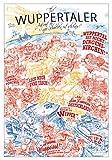 Lieferlokal Stadtposter Wuppertal in limitierter Auflage - 70x100 cm Wuppertal Poster Unikat - Wandbild mit illustriertem Stadtmotiv - Kunstdruck Poster mit Editionsnummer