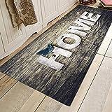 EFINNY Weihnachten Teppich Anti Rutsch Unterlage Teppich Wohnzimmer Kurzflor Fußmatte Innenbereich Lustig Waschb