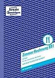 AVERY Zweckform 881 Zimmerrechnung (A5, mit 1 Blatt Blaupapier, beidseitig bedruckt, 50 Blatt) weiß