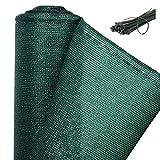 WOLTU Zaunblende 150 g/m² 1,8x6m, Tennisblende Schattiernetz Sichtschutz Windschutz Staubschutz Sonnenschutz Gewebe Netz mit Kabelbinder grün