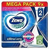 Zewa Wisch und Weg extra lang Original Küchenrolle, Mega Pack, 9 Packungen (2 Rollen x 86 Blatt)
