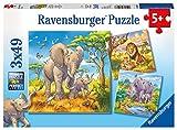 Ravensburger Kinderpuzzle 08003 - Wilde Giganten - 3 x 49 Teile