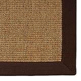 casa pura® Sisal Teppich aus Naturfasern   Kork   mit Bordüre aus Baumwolle   pflegeleicht   Größe wählbar (200x290 cm)