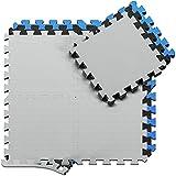 BeMaxx Schutzmatten Set Puzzlematte Bodenschutz Matte: Puzzle Bodenschutzmatten Unterlegmatte Sportgeräte-Matten   Fitnessmatte Turnmatte Sportmatte Trainingsmatte, Fitnessraum Keller Garage Fitness