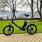 DAS.BIKE Alu 20' Klappbar Elektrofahrrad Faltbike E-Bike ebike Anthrazit