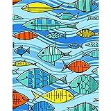 DIY 5D Diamant Gemälde Kit Full Drill Kleiner Fisch Diamant Malerei Kits Crystal Strass Stickerei Malen Nach Zahlen Erwachsene Kinder für Heimdekoration und Geschenke-Round Drill,50x70cm