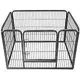 TecTake Welpenlaufstall Tierlaufstall Freigehege Hunde Laufstall - Diverse Modelle - (rechteckig | Nr. 401718) | Größe (LxBxH): ca. 125 x 85 x 70 cm