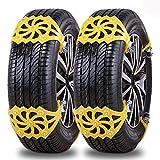 IREGRO Schneeketten, Universal Reifenketten für Auto, TPU-Material Reifenketten Schneeketten, Anti-Rutsch-Ketten für Reifenbreite 165mm-265mm, 8 Stücke