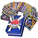 Guanan Pokemon Karten Paket, 120 Stück Glänzende Pokemon Sammelkarten Kinder Spielkarten 20 Ultra Beast GX Karten 50 Mega 30 Team Up Karten 20 Trainerkarten (88 * 63mm)