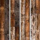 decomonkey PURO TAPETE selbstklebend | 10 m Tapete 3D Wandaufkleber – Dekofolie (Klebefolie) Möbelfolie Panel Wandtattoo Wandposter Wandsticker Bretter Holzoptik Holz b