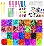 Gummi Loom Bänds DIY Webstuhl Bänder Band Box mit Armband Halskette Strickwerkzeug zum Kinderspielzeug (6801)