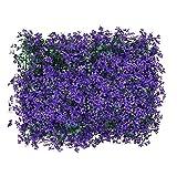 Künstliche Ahornblatt-Hecke, UV-geschützt, Kunstpflanzen-Hintergrund, Wanddekoration, Balkon-Sichtschutz, für Außenbereich, Garten, Hinterhof, 40 cm, 60 cm