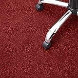 Floori® Nadelfilz Teppich, GUT-Siegel, Emissions- & geruchsfrei, wasserabweisend | Viele Farben & Größen (200x200 cm, rot)
