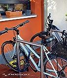 Fahrrad-Bügel aus Edelstahl von Namor | Fahrradanlehnbügel | Anlehnbügel zum aufdübeln | Rostfrei | Fahrradparker | Fahrradhalter made in Germany (900mm x 580mm x 48,3mm (Höhe/Breite/Durchmesser)