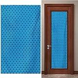 JYXJJKK Türtapete Türposter 3D Tapete PVC Fototapete Blau Mode Spiel Streifen 95x215 cm für Badezimmer Küche Schlafzimmer Deko Selbstklebende Bild Poster für Türen