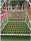 SSWZHANG Hanfseil Net Kinder Sicherheitsnetz, 8mm * 10cm, Outdoor Construction Safety Net, Gartenzaun, Einfahrt Spielplatz, Pflanzkletternetz, Außenterrasse Balkon Netz(Size:1 * 2m(3 * 7ft))