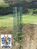 BEST4FORST 25 Stück Baumschutzhülle Forstwuchs 120cm hoch, Ø 20cm, grün, Stammschutz, Fege- und Verb