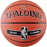 Spalding NBA Silver Outdoor Basketball Ball (7, orange)