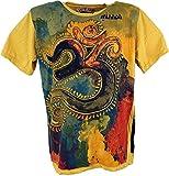 GURU SHOP Mirror T-Shirt, Herren, OM/Gelb, Baumwolle, Size:XL, Bedrucktes Shirt Alternative Bekleidung
