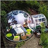 Blasenzelt Indoor Outdoor Aufblasbares Bubble Camping Zelt Pavillon Transparent, Sehr Widerstandsfähig, ideal für Terrasse und Garten Durchmesser 5M