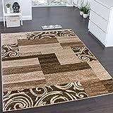 Paco Home Designerteppich für Wohnzimmer Inneneinrichtung Teppich Meliert Beige Braun, Grösse:190x280 cm