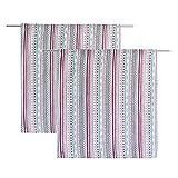 RRTYA 1 Paar kurzer halbverdunkelnder Vorhang für Zimmertür, Fenster, Volant für Schlafzimmer, Küche, Badezimmer, Wohnzimmer, Balkon (Stil C)