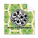 Reinigungstuch, Motiv: italienische Pizza, Gourmet, für Handy, Bildschirm, Brillen, 5 Stück
