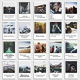 INDIVIDUAL NOMAD® Postkarten 20er Set zum Thema Reisen & Urlaub | Sprüche und Zitate die Lust aufs Reisen macht | Im Retro-Polaroid Style